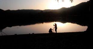 Limpieza y pesca en el embalse de Encinarejo